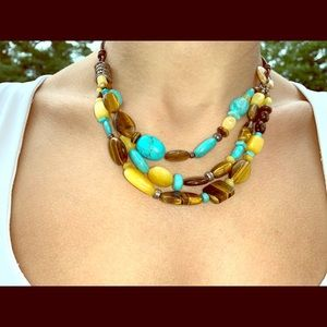 Silpada turquoise & tiger eye necklace